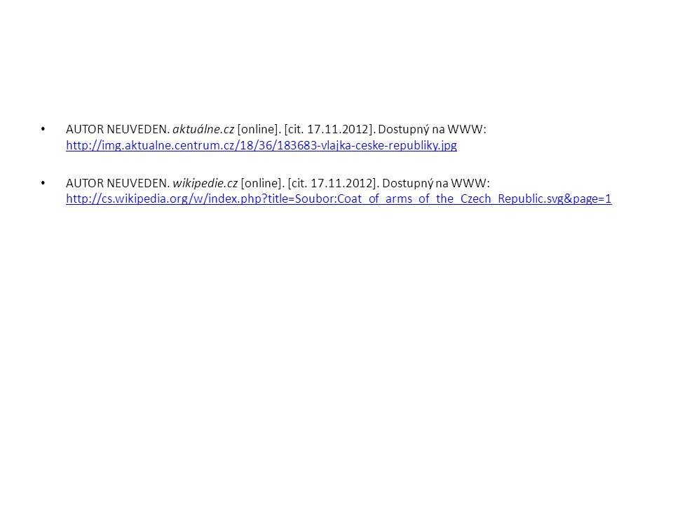 AUTOR NEUVEDEN. aktuálne. cz [online]. [cit. 17. 11. 2012]